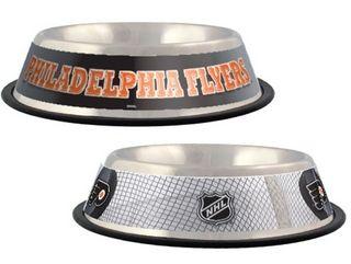 DoggieNation-NHL - Philadelphia Flyers Dog Bowl-Stainless - One-Size