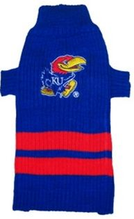DoggieNation-College - Kansas Jayhawks Dog Sweater - Medium