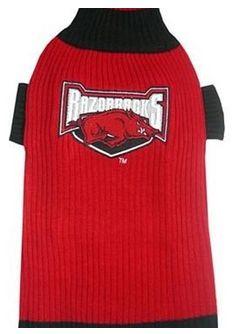 DoggieNation-College - Arkansas Razorbacks Dog Sweater - Small