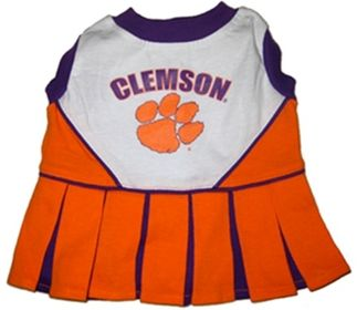 DoggieNation-College - Clemson Cheerleader Dog Dress - Small