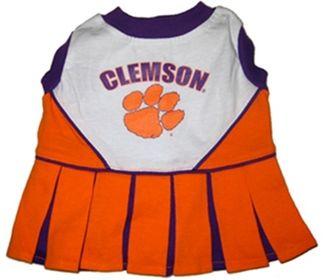 DoggieNation-College - Clemson Cheerleader Dog Dress - Medium