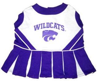 DoggieNation-College - Kansas State Cheerleader Dog Dress - XtraSmall