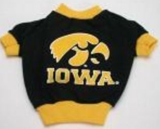 DoggieNation-College - Iowa Hawkeyes Dog Tee Shirt - Medium