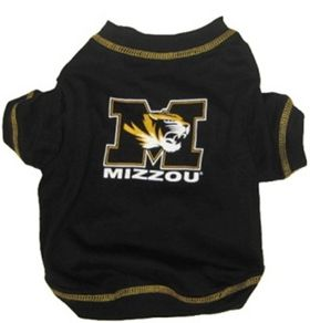 DoggieNation-College - Missouri Tigers Dog Tee Shirt - Medium