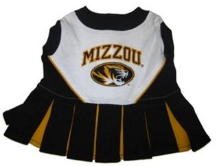 DoggieNation-College - Missouri Tigers Cheerleader Dog Dress - Small