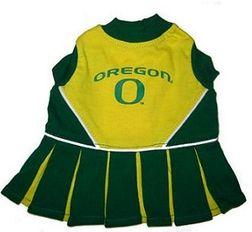 DoggieNation-College - Oregon Ducks Cheerleader Dog Dress - Small
