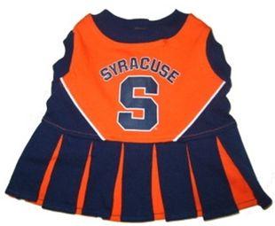 DoggieNation-College - Syracuse Cheerleader Dog Dress - Medium