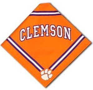 DoggieNation-College - Clemson Dog Bandana - Orange - Small