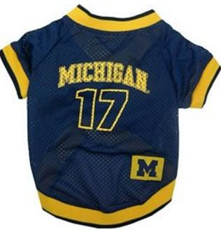 DoggieNation-College - Michigan Wolverines Dog Jersey - Small