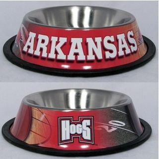 DoggieNation-College - Arkansas Dog Bowl-Stainless - One-Size