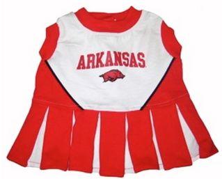 DoggieNation-College - Arkansas Razorbacks Cheerleader Dog Dress - XtraSmall