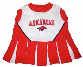 DoggieNation-College - Arkansas Razorbacks Cheerleader Dog Dress - Small