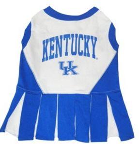 DoggieNation-College - Kentucky Wildcats Cheerleader Dog Dress - XtraSmall