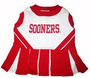 DoggieNation-College - Oklahoma Sooners Cheerleader Dog Dress - Small