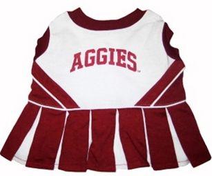DoggieNation-College - Texas A&M Cheerleader Dog Dress - XtraSmall