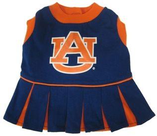 DoggieNation-College - Auburn Cheerleader Dog Dress - XtraSmall