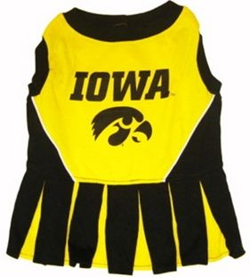 DoggieNation-College - Iowa Hawkeyes Cheerleader Dog Dress - Medium