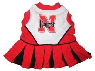 DoggieNation-College - Nebraska Huskers Dog Cheerleader Dress - Small
