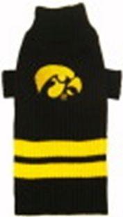DoggieNation-College - Iowa Hawkeyes Dog Sweater - Small