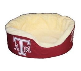 DoggieNation-College - Texas A&M Oval Dog Bed - Large