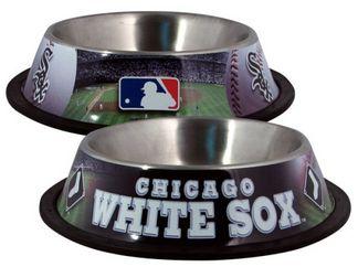 DoggieNation-MLB - Chicago White Sox Dog Bowl - Stainless - One- Size