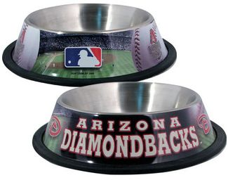 DoggieNation-MLB - Arizona Diamondbacks Dog Bowl-Stainless - One- Size