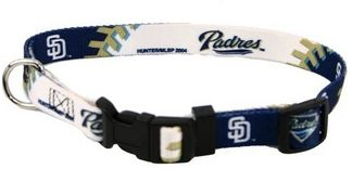 DoggieNation-MLB - San Diego Padres Dog Collar - Small