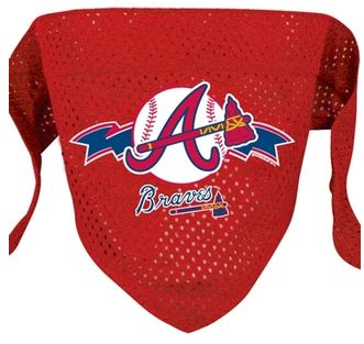 DoggieNation-MLB - Atlanta Braves Mesh Dog Bandana - Small