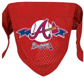DoggieNation-MLB - Atlanta Braves Mesh Dog Bandana - Large