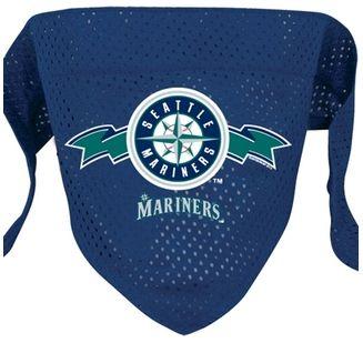 DoggieNation-MLB - Seattle Mariners Mesh Dog Bandana - Small