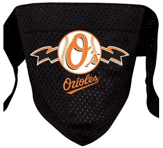 DoggieNation-MLB - Baltimore Orioles Mesh Dog Bandana - Small