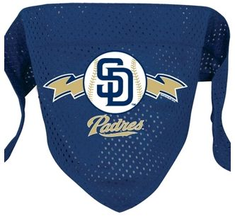 DoggieNation-MLB - San Diego Padres Mesh Dog Bandana - Small