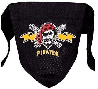 DoggieNation-MLB - Pittsburgh Pirates Mesh Dog Bandana - Large