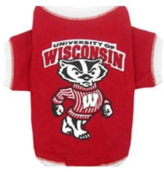 DoggieNation-College - Wisconsin Badgers Dog Tee Shirt - Small