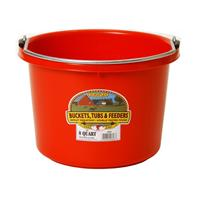 Miller Mfg - Plastic Bucket - Red - 8 Quart