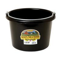 Miller Mfg - Plastic Bucket - Black - 8 Quart