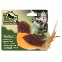 Our Pets - Realbirds Play-N-Squeak - Touchdown - Orange/Brown