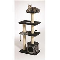 Midwest Container - Feline Nuvo Tower Cat Furniture - Black & White - 22  X 15  X 51