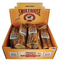 Smokehouse Dog Treats - Usa Made Round Meaty Bone - 7 Inch/10 Piece - Display