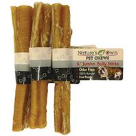 Best Buy Bones - Nature S Own Odor-Free Bully Sticks - Jumbo - 6 Inch