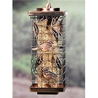 Audubon/Woodlink - Caged Tube Feeder With Leaf Design - Silver