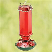 Audubon/Woodlink - Glass Humminbird Feeder - Red - 16 oz