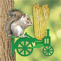 Audubon/Woodlink - Tractor Corn Cob Squirrel Feeder - Green