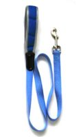 Iconic Pet - Reflective Nylon Leash - Blue - 0.98 x 23.6 Inch