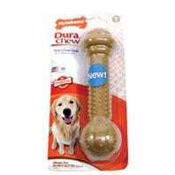 Nylabone - Dura Chew Barbell Dog Chew - Peanut Butter - Giant