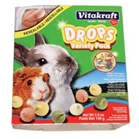 Vitakraft - Drops Variety Pack - Guinea Pig/rabbit - Assorted - 5 oz