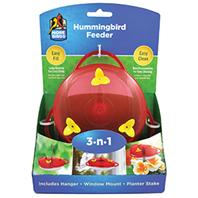 Classic Brands - 3-N-1 Hummingbird Feeder - Red