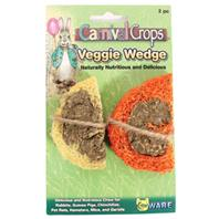 Ware Mfg - Carnival Crops Veggie Wedge Small Aminal Chews - Multi - 1.5 Inch - 2 Pack