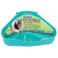 Ware Mfg - Corner Litter Pan For Critters - Assorted - 6.5 X 4.5 X 3 Inch