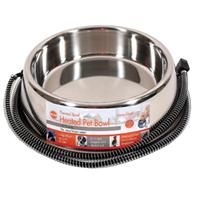 K&H Pet Products - Thermal Bowl Heated Pet Bowl - StainleSteel - 120 oz